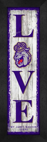 James Madison Dukes Love My Team Vertical Wall Decor