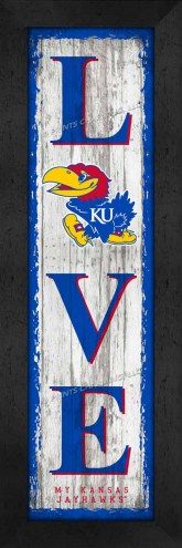 Kansas Jayhawks Love My Team Vertical Wall Decor