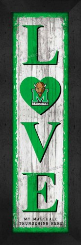 Marshall Thundering Herd Love My Team Vertical Wall Decor