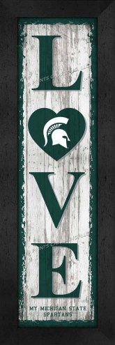 Michigan State Spartans Love My Team Vertical Wall Decor