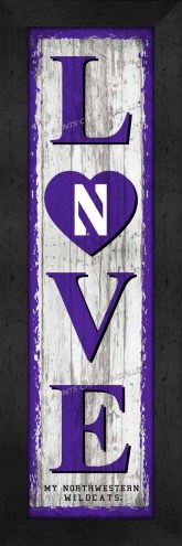 Northwestern Wildcats Love My Team Vertical Wall Decor