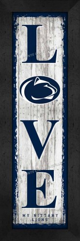 Penn State Nittany Lions Love My Team Vertical Wall Decor