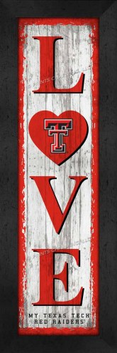 Texas Tech Red Raiders Love My Team Vertical Wall Decor