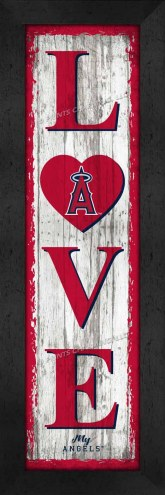 Los Angeles Angels Love My Team Vertical Wall Decor