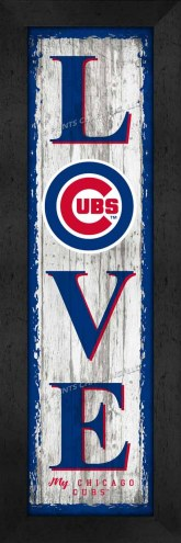 Chicago Cubs Love My Team Vertical Wall Decor
