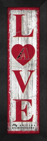 Arizona Diamondbacks Love My Team Vertical Wall Decor