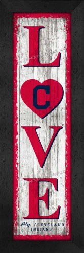 Cleveland Indians Love My Team Vertical Wall Decor