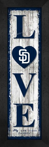 San Diego Padres Love My Team Vertical Wall Decor