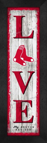 Boston Red Sox Love My Team Vertical Wall Decor