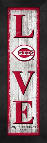 Cincinnati Reds Love My Team Vertical Wall Decor