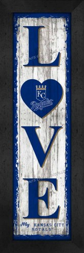 Kansas City Royals Love My Team Vertical Wall Decor