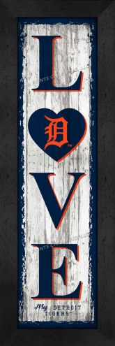 Detroit Tigers Love My Team Vertical Wall Decor