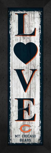 Chicago Bears Love My Team Vertical Wall Decor