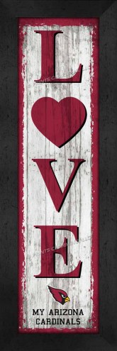 Arizona Cardinals Love My Team Vertical Wall Decor
