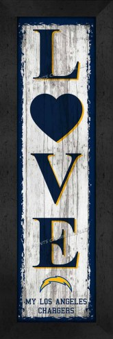 Los Angeles Chargers Love My Team Vertical Wall Decor