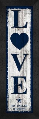 Dallas Cowboys Love My Team Vertical Wall Decor