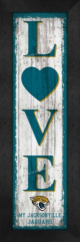 Jacksonville Jaguars Love My Team Vertical Wall Decor