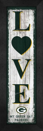 Green Bay Packers Love My Team Vertical Wall Decor