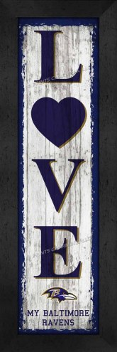 Baltimore Ravens Love My Team Vertical Wall Decor