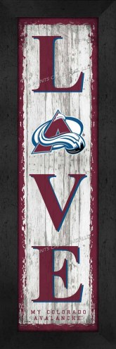 Colorado Avalanche Love My Team Vertical Wall Decor