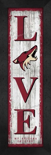 Arizona Coyotes Love My Team Vertical Wall Decor