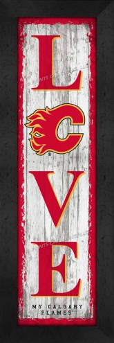 Calgary Flames Love My Team Vertical Wall Decor