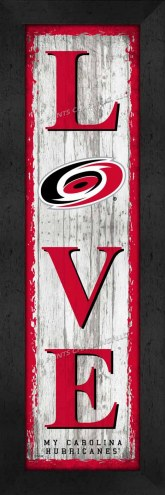 Carolina Hurricanes Love My Team Vertical Wall Decor