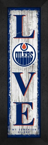 Edmonton Oilers Love My Team Vertical Wall Decor