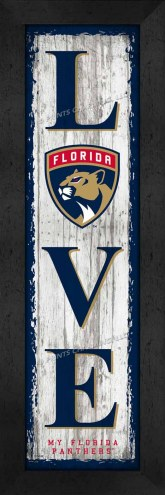 Florida Panthers Love My Team Vertical Wall Decor