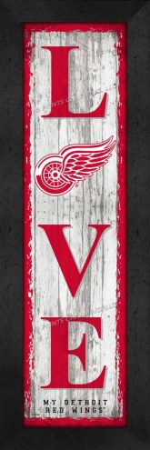 Detroit Red Wings Love My Team Vertical Wall Decor