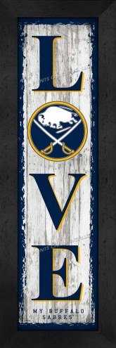 Buffalo Sabres Love My Team Vertical Wall Decor