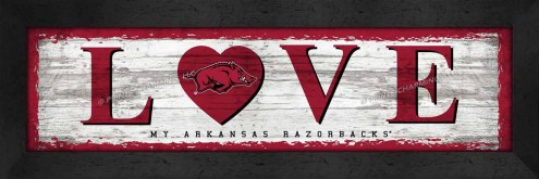 Arkansas Razorbacks Love My Team Wall Decor