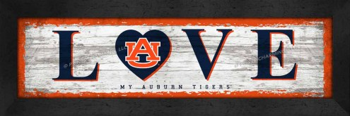 Auburn Tigers Love My Team Wall Decor