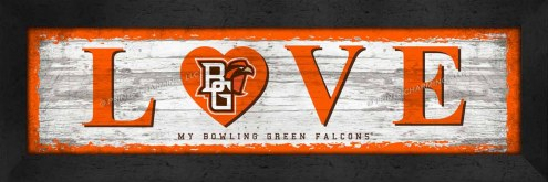 Bowling Green State Falcons Love My Team Wall Decor
