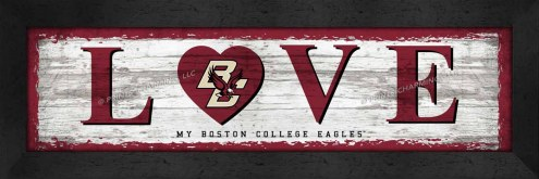 Boston College Eagles Love My Team Wall Decor