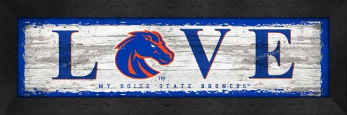 Boise State Broncos Love My Team Wall Decor