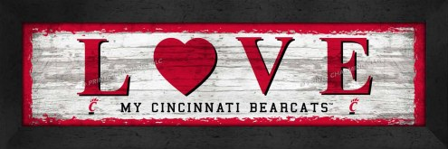 Cincinnati Bearcats Love My Team Wall Decor