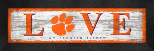 Clemson Tigers Love My Team Wall Decor