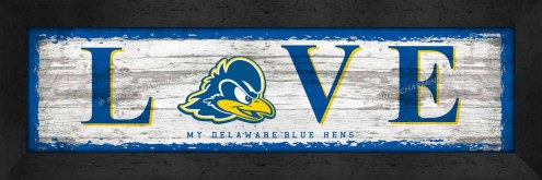 Delaware Blue Hens Love My Team Wall Decor