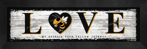Georgia Tech Yellow Jackets Love My Team Wall Decor