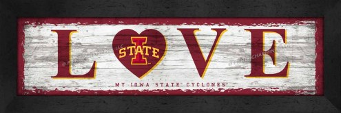 Iowa State Cyclones Love My Team Wall Decor