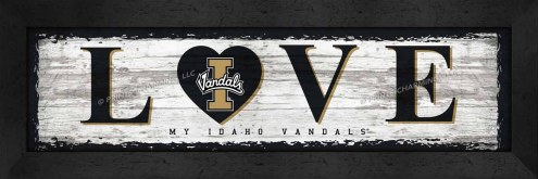 Idaho Vandals Love My Team Wall Decor