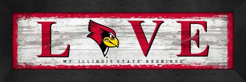 Illinois State Redbirds Love My Team Wall Decor