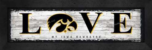 Iowa Hawkeyes Love My Team Wall Decor