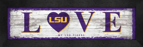 LSU Tigers Love My Team Wall Decor
