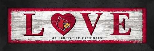 Louisville Cardinals Love My Team Wall Decor
