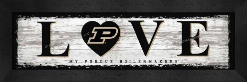 Purdue Boilermakers Love My Team Wall Decor