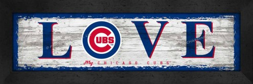 Chicago Cubs Love My Team Wall Decor