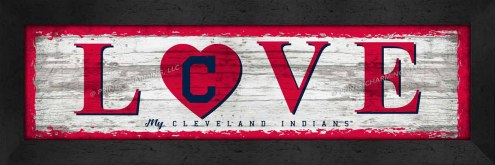 Cleveland Indians Love My Team Wall Decor
