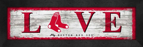 Boston Red Sox Love My Team Wall Decor